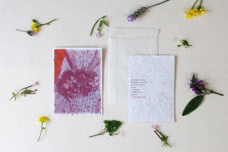 thank you card printed on growing paper. - plant the paper is soil, give it water, and grow a small bouquet of wild flowers. From me to you.