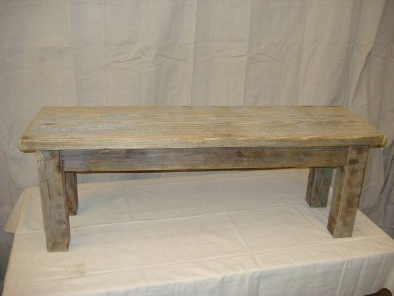 Driftwood Bench for 60 long Table 47 x 15 x by DriftwoodTreasures, $239.00