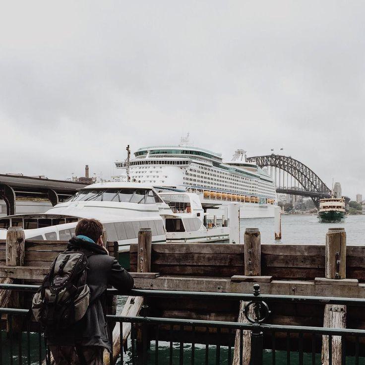 Circular Quay Sydney. #travel #sydney #igers #sydneyharbour #sydneyharbourbridge #landmarks #strangers #boat #cruiseship #royalcarribean #f4f #l4l #life #vscocam #vsco #adventure #discover #iphoneonly #iphone #ig_sydney #ig_australia #oz #follow by wilsonjim http://ift.tt/1NRMbNv