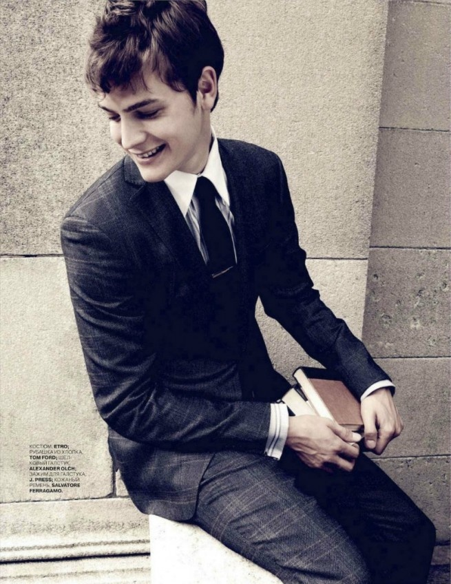 Another great suit and great haircut...the Russian GQ spread reminds me of \A Separate Peace\ btw  ! Im excited, I have been using this new product I saw on Pinterest. I am already 27 pounds lighter! Check out the PIN here http://pinterest.com/pin/5207355789227375/
