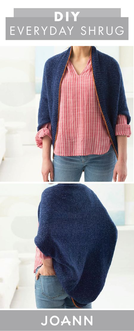 We're all about creating your own clothing pieces—that way you can make your dream piece instead of having to shop all over for it! And this DIY Everyday Shrug may help you do just that. With help from JOANN, you'll be rocking this timeless fall layer in no time.