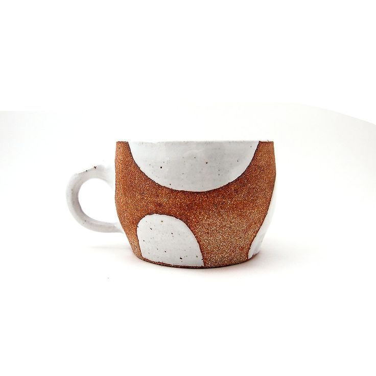 • Ceramic mug • Stepping Stone series • Approx. 4 wide (not including handle) and 3 tall • Soldate clay with glossy white glaze • Glazed perfectly for drinking • Glazed to accommodate right handed person as well as left handed person • Thumb rest • Hand washing recommended • Microwavable