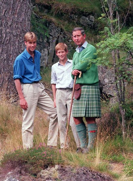 Prince Charles, with his young sons William and Harry, agrees to a photo shoot at the start of their holiday in Balmoral in exchange for privacy.