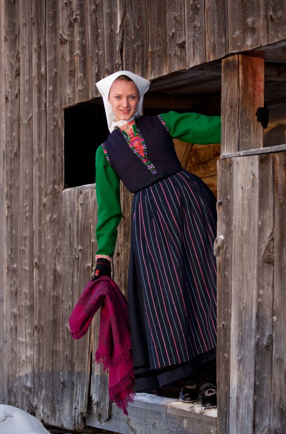 "Scandinavian Folk Costume *If not from a specific 'region', then it's called a ""fest drakt"" instead of bunad. Bunad is a very precise, time consuming (or expensive) endeavor, in intricate embroidery & hand stitch. It's from a small area where you and your mother (or father) lives/ed -- YOUR TRIBE ... Fest Drakt is simpler. the old ways of a frock."