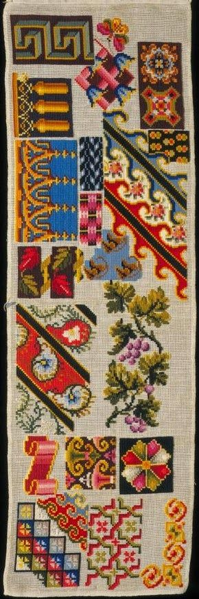 A 19th Century European WoolWork Sampler