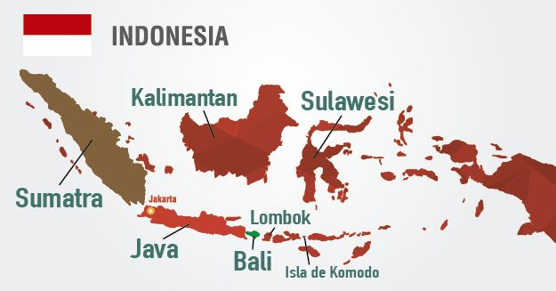 mapa indonesia viajar por indonesia principales destinos