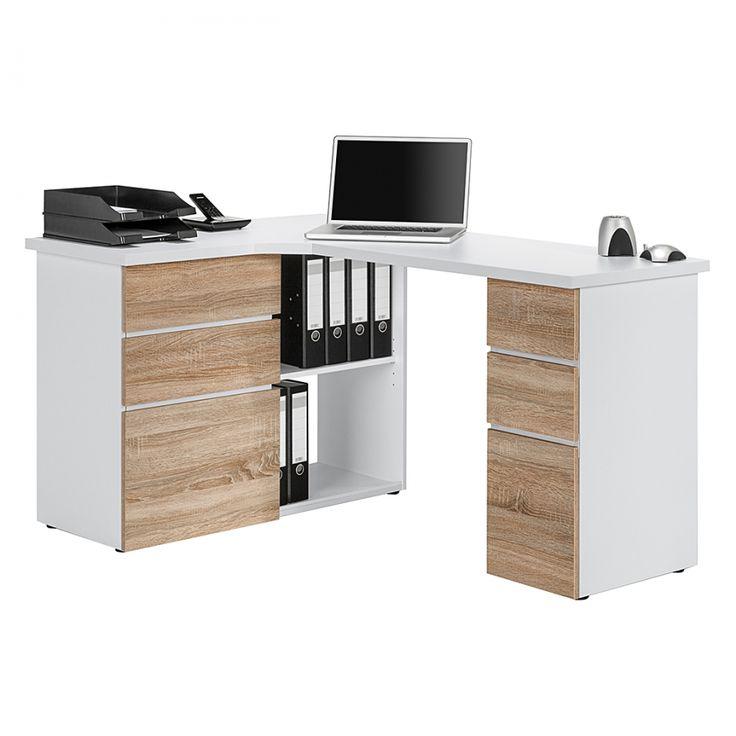 Pinterest - Computer kamer decor, Hoeklegborden en Kleine hoekbureau