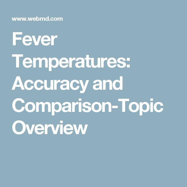 Fever Temperatures: Accuracy and Comparison-Topic Overview