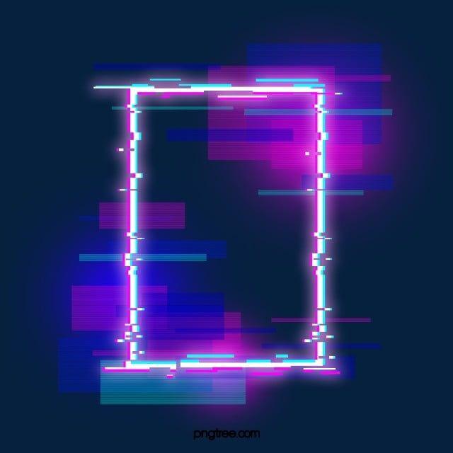 الحدود النيون الأرجواني الخاطئ التصوير المجسم خلل تأثير المصباح Png وملف Psd للتحميل مجانا Neon Neon Wallpaper Neon Design