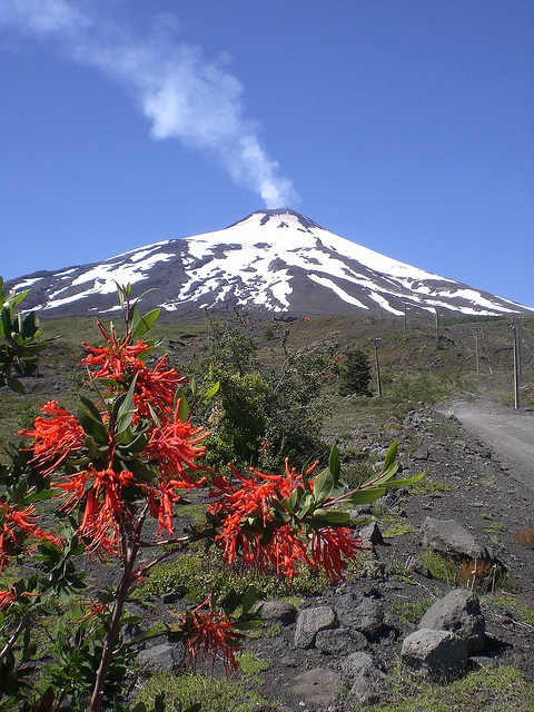 Volcán Pucón, Chile.