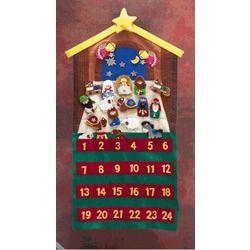 Felt Advent Calendar with removable velcro figures, $26.95. Fun! #CatholicCompany
