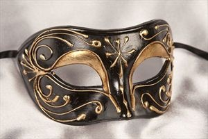 Mens Luxury Masquerade Masks - ANDREA GOLD