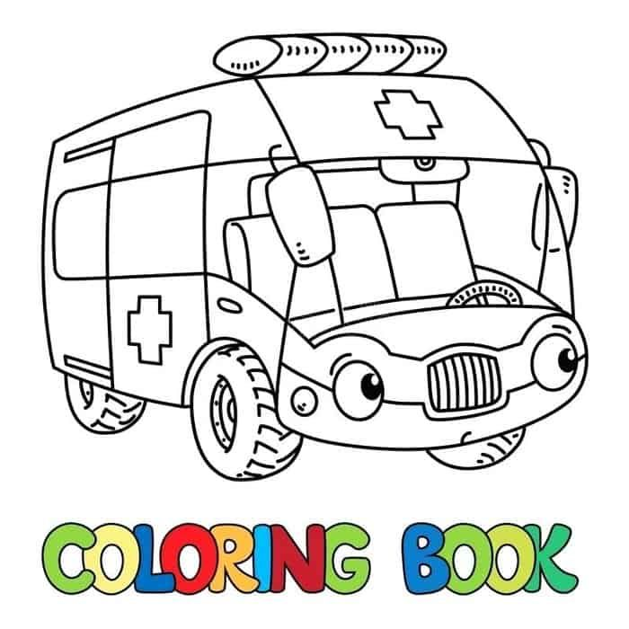 Cartoon Coloring Pages Of Ambulance Coloring Books Cartoon Coloring Pages Monster Truck Coloring Pages