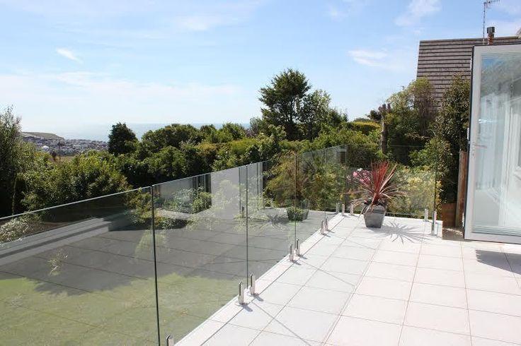 Frameless Stainless Steel And Glass Balustrade / Handrail / Balcony / Railings