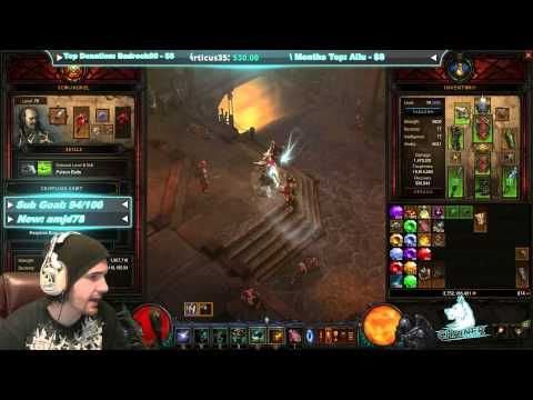 [Diablo 3] 2.3 Barb Greater Rift 65-70+ Whirlwind Build - YouTube