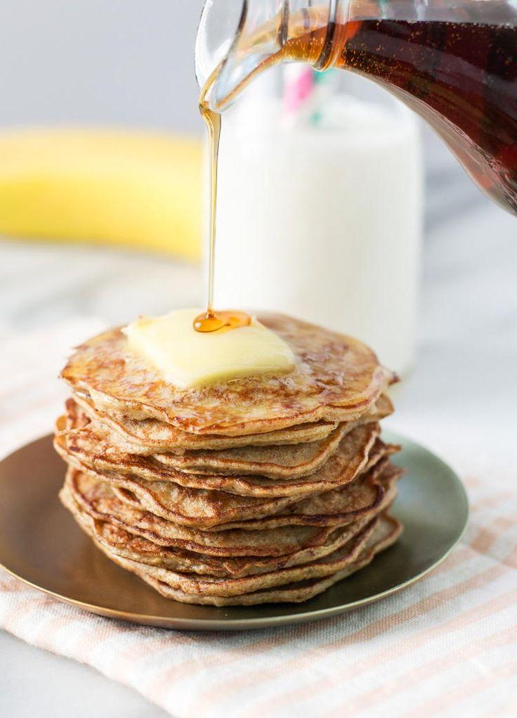 3-Ingredient Healthy Banana Pancakes | FaveHealthyRecipes.com