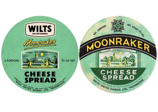 wilts moonraker cheese spread vintage branding