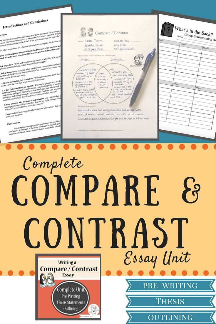 teaching students write compare contrast essay A unit of study on literary essays: from quick students to writing quick compare and contrast essays you'll teach your students to 'write essays in the.