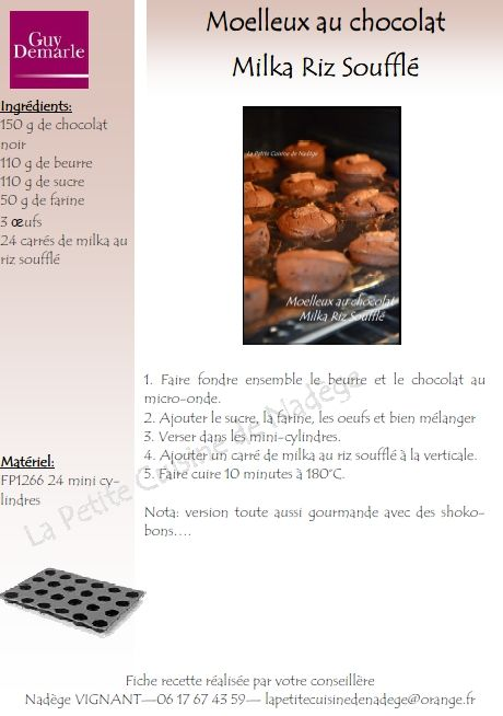 Gateau chocolat micro onde guy demarle