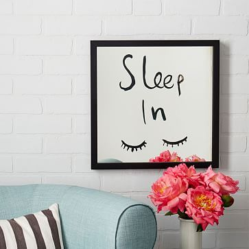 "Kate Spade Saturday x West Elm - Mirrored Wall Art - ""Sleep In"""