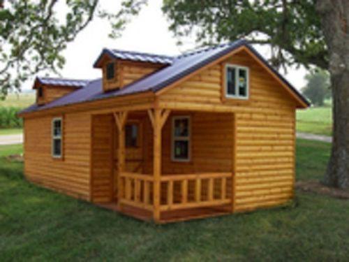 Amish Quality Log Sided Cabin Kits 14 X28 Shell