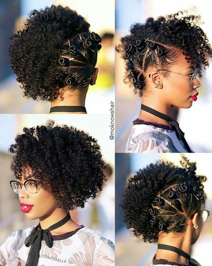 side bantu knots hair curly