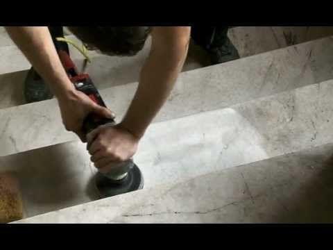 Steinglanz Natursteinsanierung-Marmor Schleifen-Terrazzo Aufarbeitung,Polieren. - YouTube