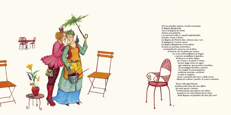 "Valérie Dumas illustration for the book, ""Nel Giardino delle Regine""."