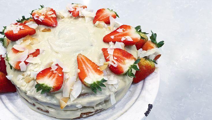 Mother's Day Vegan Cake #coconutcake #vegan #vegancake #samibloom #sproutmarket