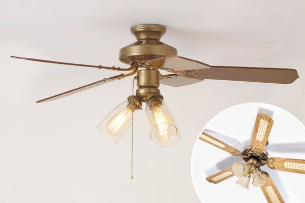 3 Ways To Spiff Up A Ceiling Fan Ceiling Fan Ceiling Fan Makeover Ceiling Fan Diy