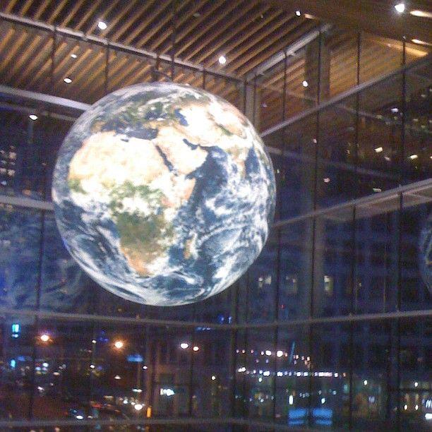 Earth Globe inside Vancouver Convention Center @extragram