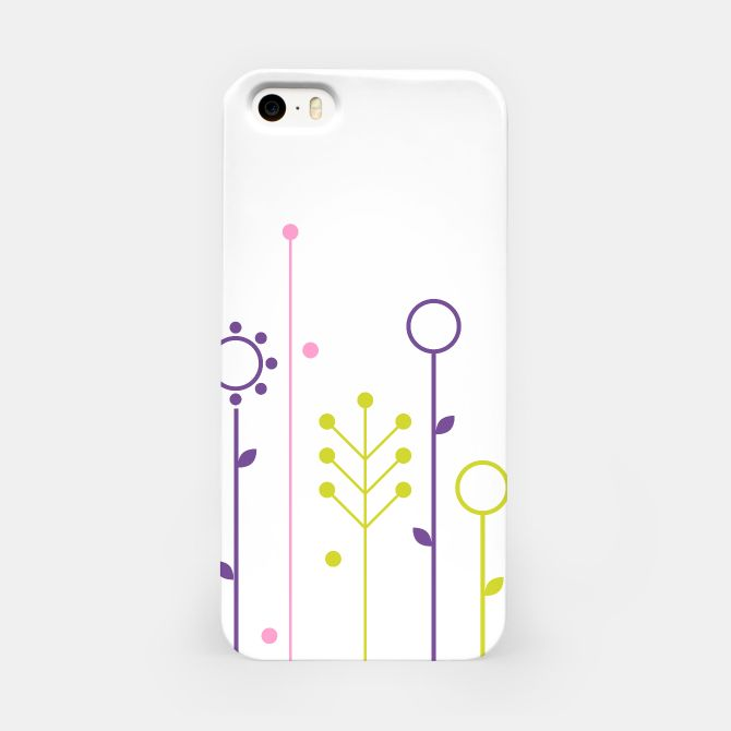 iPhone artistic Case with Folk flowers on White