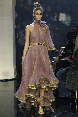 Ancient Greek inspired fashion Look 28 from Jean Paul Gaultier Spring 2006 Couture Fashion Show - Michelle Buswell