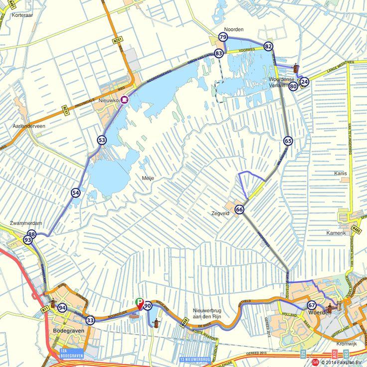 Fietsroute: Meijepolder Bodegraven, Woerden en Nieuwkoop  (http://www.route.nl/fietsroutes/116217/Meijepolder-Bodegraven-Woerden-en-Nieuwkoop/)