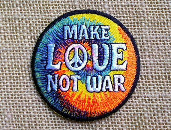 Iron On Patch. Hippie Patches for Jackets and Backpacks. Size: