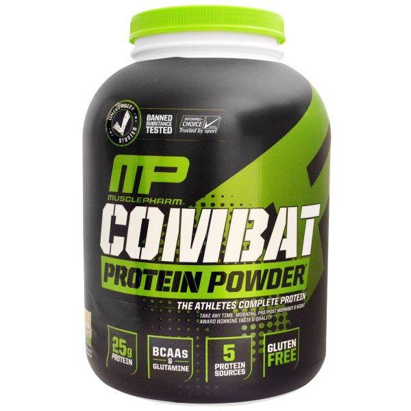 MusclePharm, Combat Powder、アドバンスト・タイムリリース・プロテイン、クッキー&クリーム、4 lbs (1814 g)