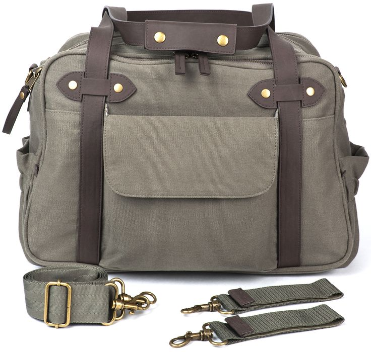 Finally, a true unisex bag to get you through the diaper years and beyond. This canvas workhorse looks as natural on Dad as it does on Mom, and is designed to hold everything you need for a trip to the playground or a day at work.