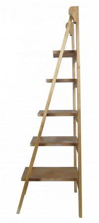 Открытый деревянный стеллаж-лестница Industrial