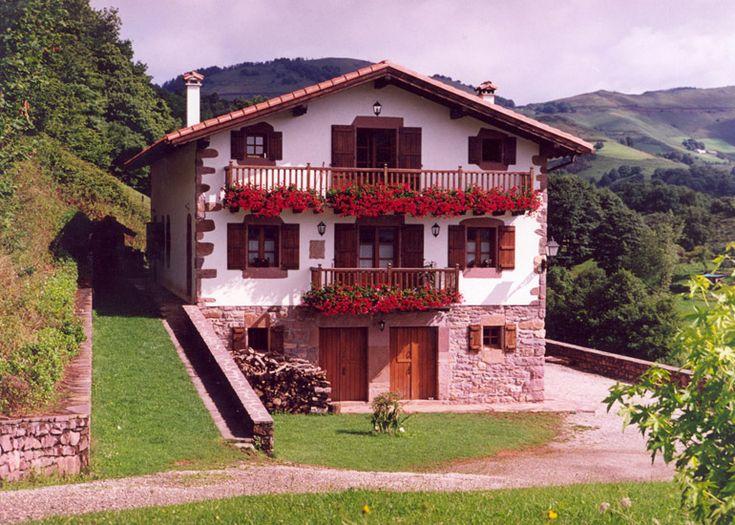 Casa t pica de navarra espa a precioso pa s i pinterest espa a pa s vasco y lugares de - Casas pais vasco ...