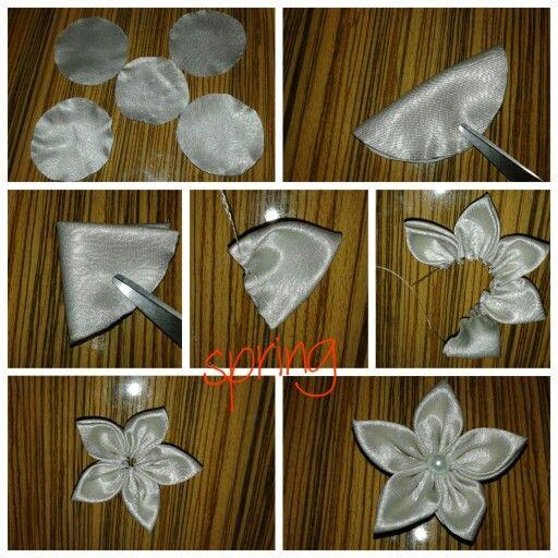 Kumaş çiçek yapımı