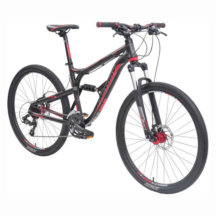 Factory DS180 MTB 24 Speed Bike - Black/Red - 8308
