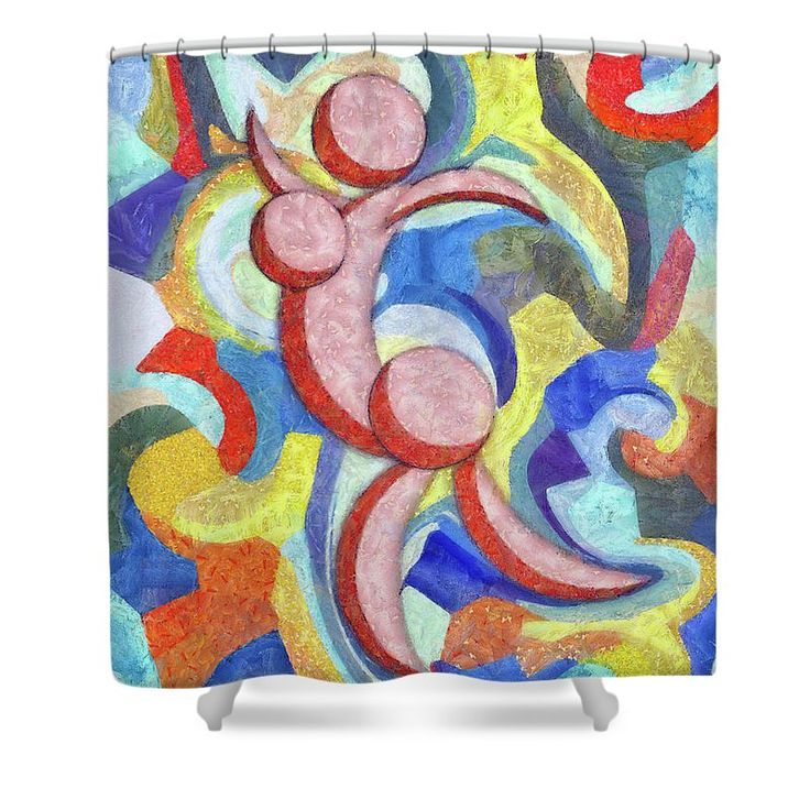 Abstract Shower Curtain featuring the painting Female Dance Abstract by…