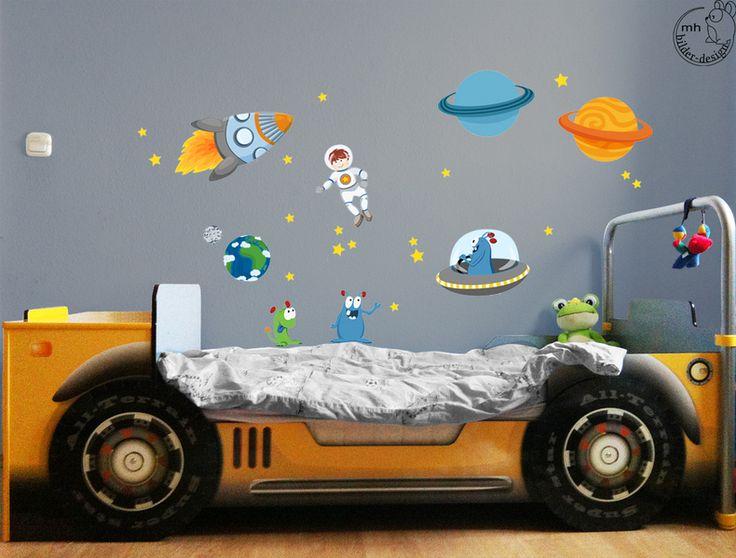 Nice Wandtattoo SET Weltraum personalisierbar von MHBilder Design auf DaWanda