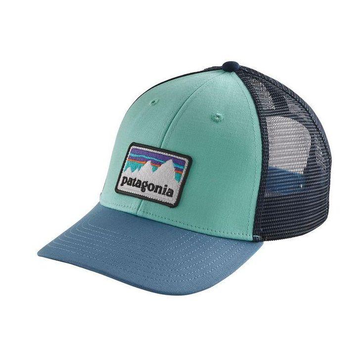 Patagonia Shop Sticker Patch LoPro Trucker Hat - Bend Blue