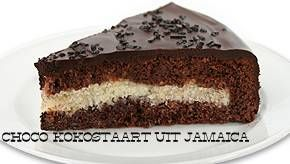 jamaicaanse chocokokostaart