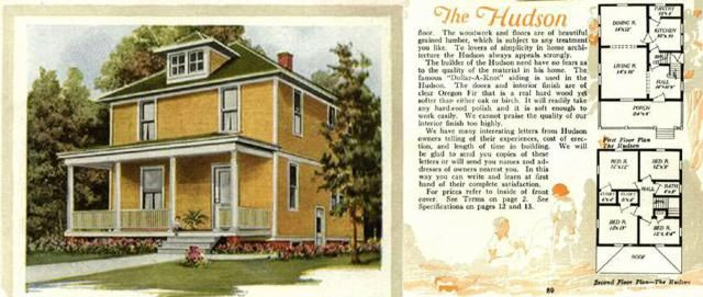 Foursquare House Plans - Is Your Old House From a Catalog?: Aladdin Catalog, The Hudson, 1920
