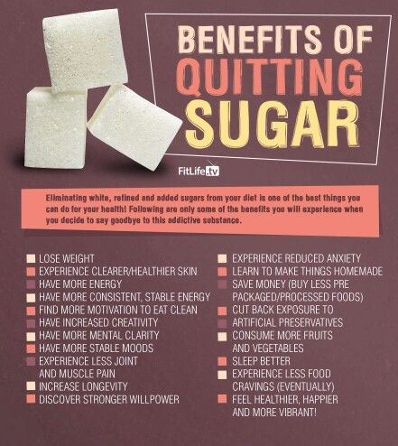 Benefits of quiting sugar - Fitlife.tv