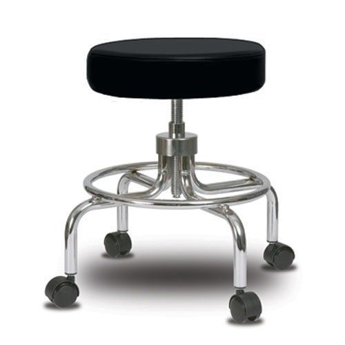 Perch Retro Exam Stool with Wheels Adjustable Height Medical Dental Office Wo... #Perch