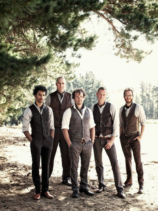 Groom's attire - rustic - oh so handsome - with pocketwatches!