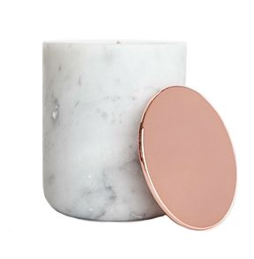 Marble Range - White with Rose Gold/Copper Lid
